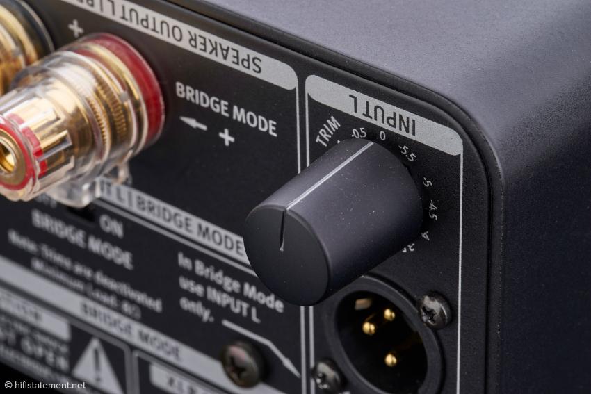 Der Festwiderstand-Schalter zur Anpassung der Eingangsempfindlichkeit ist ebenso selten wie wertvoll