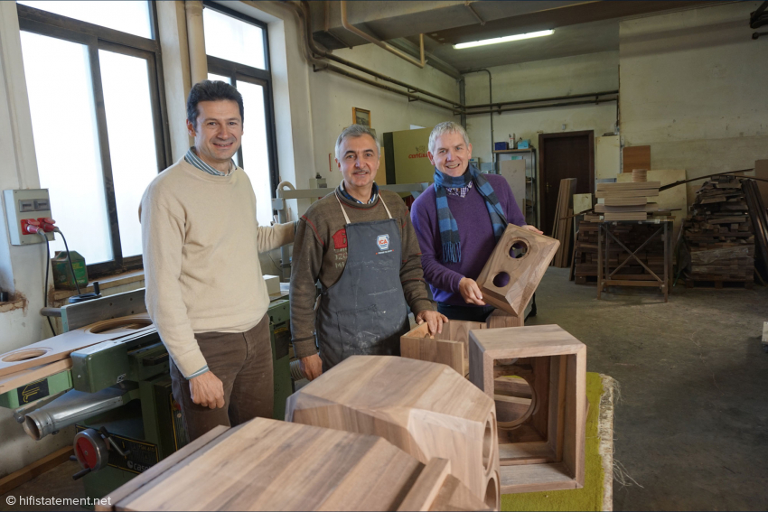 Norditalienisches Triumvirat: Allesandro Schiavi, Loris Copiello und Rainer Israel