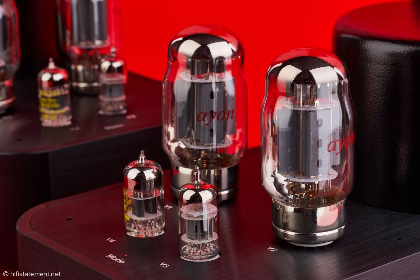 Die speziell gefertigten KT88 machen einen sehr guten Eindruck und scheinen auch wenig mikrophonieempfindlich zu sein.
