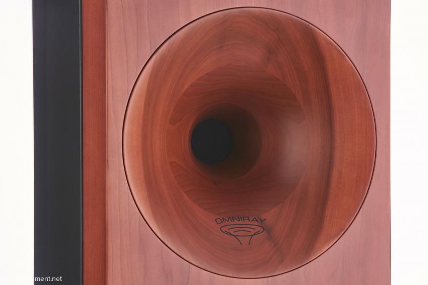 Das perfekt in die massive Frontplatte integrierte Horn für den Hoch-/Mitteltonbereich
