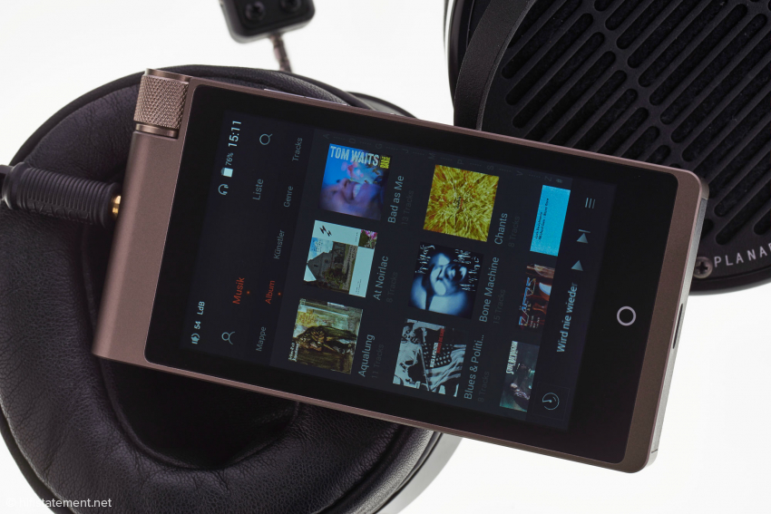 Der Cayin besitzt einen hochauflösenden, farbigenTouch Screen