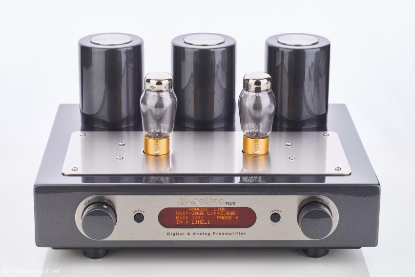 Der ZeroUno PLUS mit der markanten Optik einer kleinen Röhrenendstufe