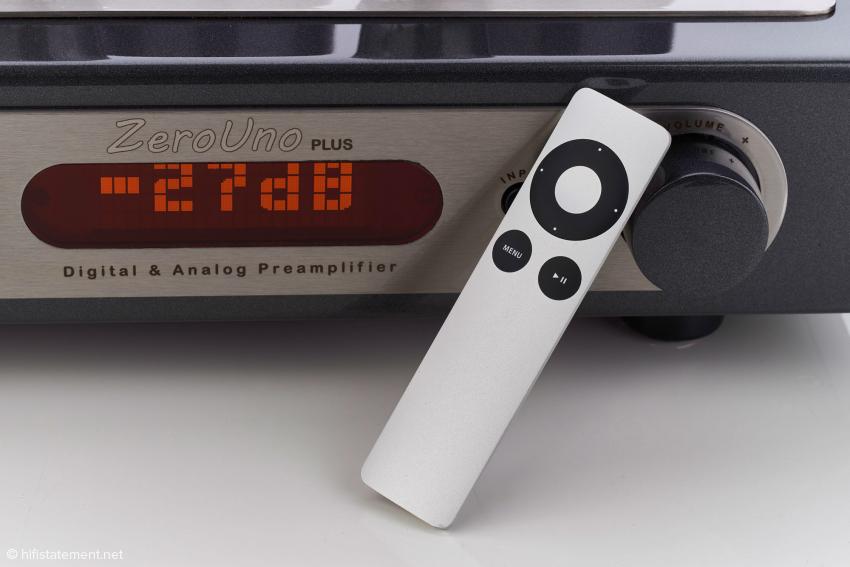 Apple Remote Fernbedienung auch für den Analogteil des ZeroUno PLUS