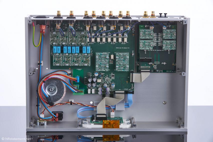 Die PD2 DAC-Vorstufe ist zukunftssicher, da Updates durch den vorbildlich modulartigen Aufbau jederzeit problemlos möglich sind