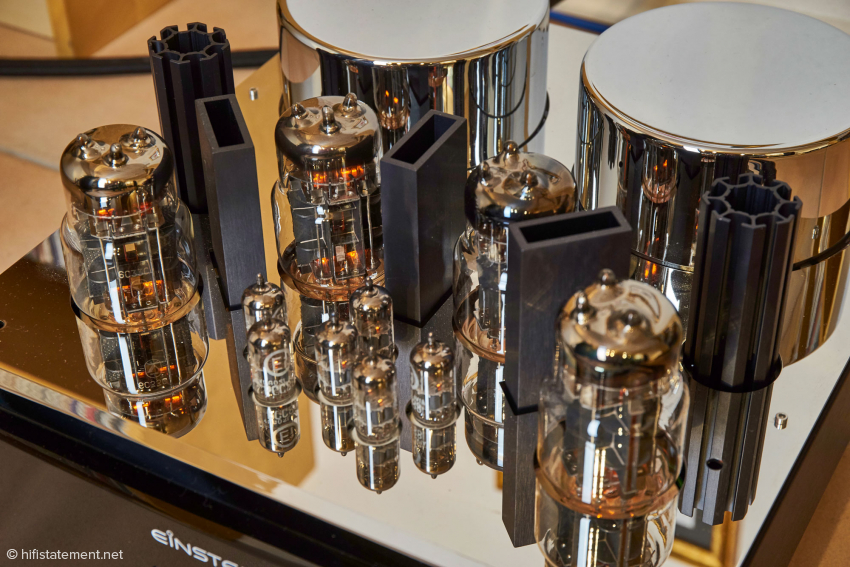 Four 6C33C tubes provide 65 watts at eight ohms