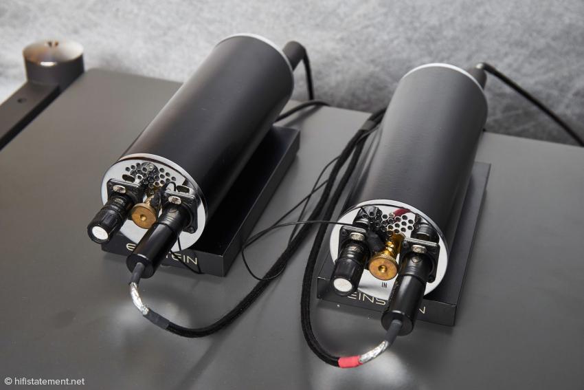 Jedes der beiden Rohre beinhaltet zwei Signalplatinen zur Entzerrung und Verstärkung der positiven und negativen Halbwelle des Phonosignals. Die Netzteile sind ausgelagert