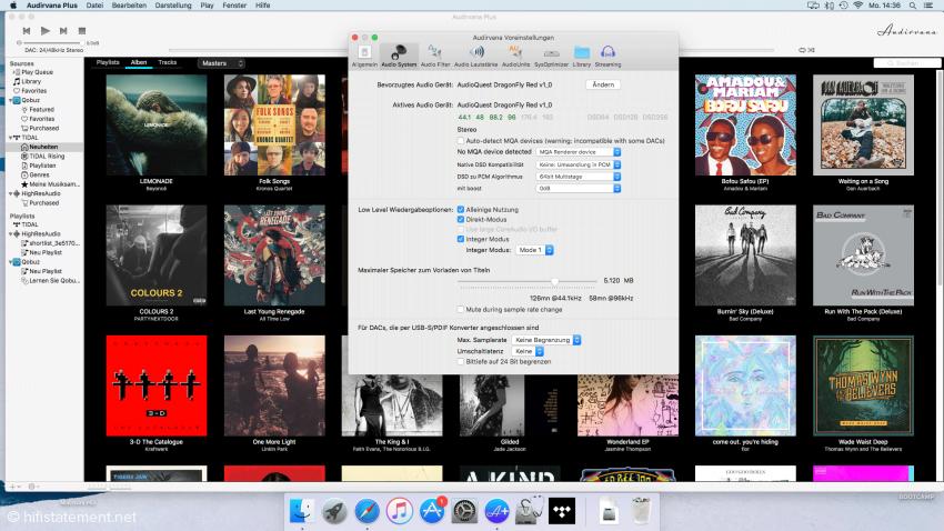 Die Alleskönner-Software für Apple Audirvana Plus 3.0.6 erfordert auch die richtige Anpassung