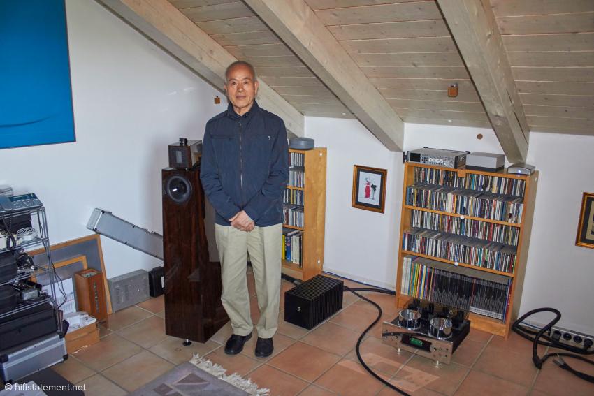 Kazuo Kiuchi, der Entwickler und Chef von Harmonix und Hijiri, besuchte den Autor vor der hifideluxe