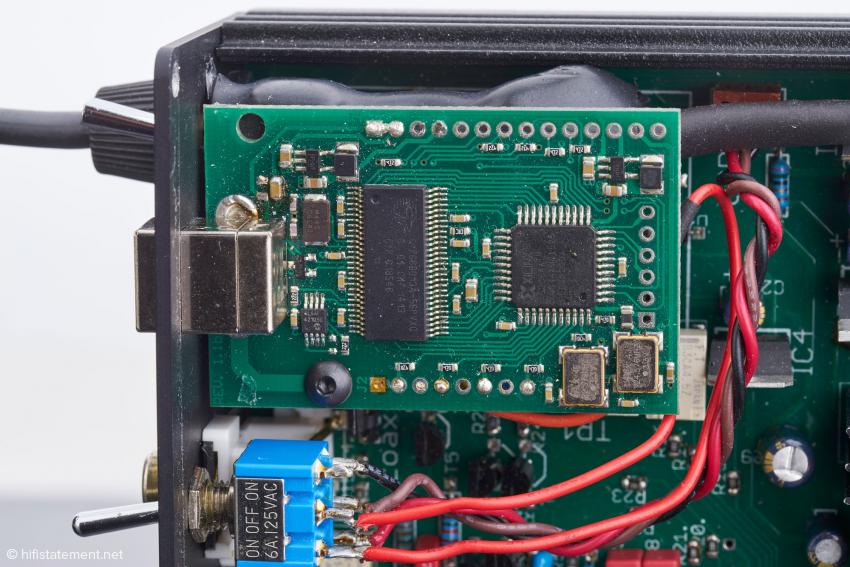 Das USB-Bord kommt von M2Tech aus Italien