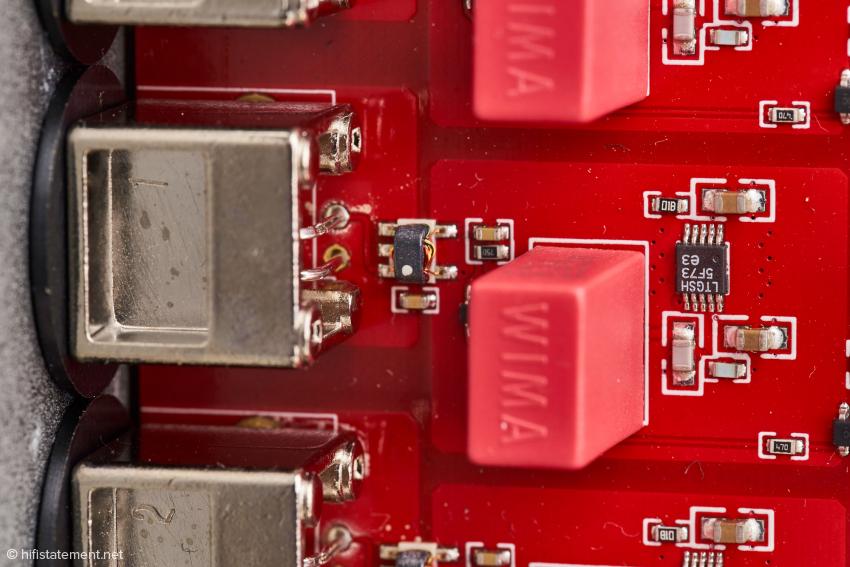Die Ausgangssektion mit HF-Übertrager und eigener Spannungsregelung