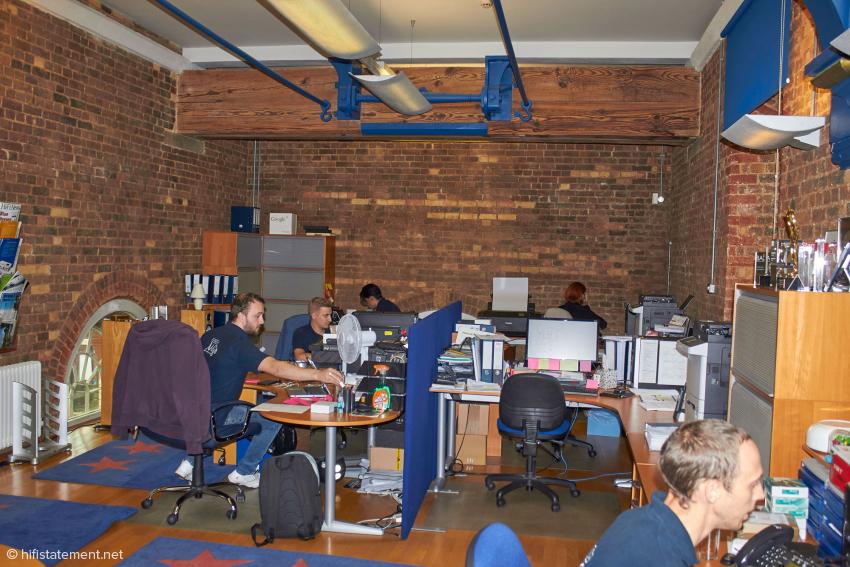In der ersten Etage des Pump House ist nur ein Teil der Mitarbeiter der Verwaltung und des Marketings untergebracht