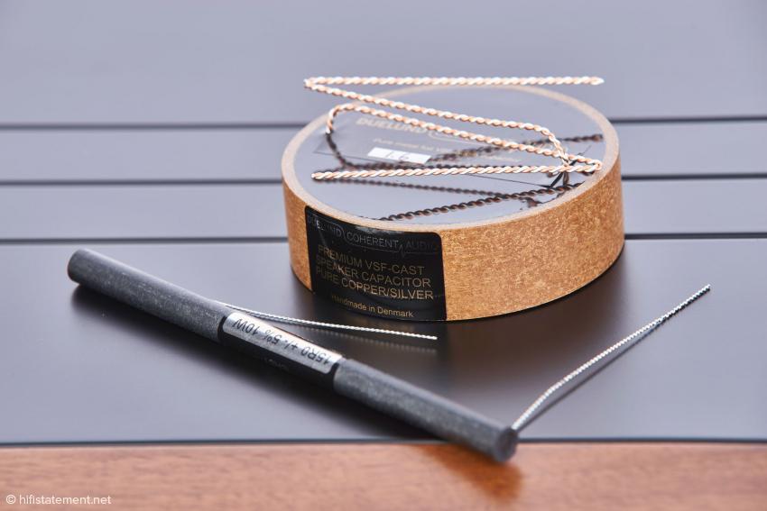 Gegen Aufpreis ist die N° One auch mit den DUELUND COHERENT AUDIO Kondensatoren erhältlich, die zu den weltbesten gehören