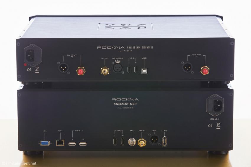 Die Anschlüsse von Signature DAC und NET: Die wohl beste Verbindung zwischen den beiden sind die als HDMI-Buchsen ausgeführten I2S-Schnittstellen
