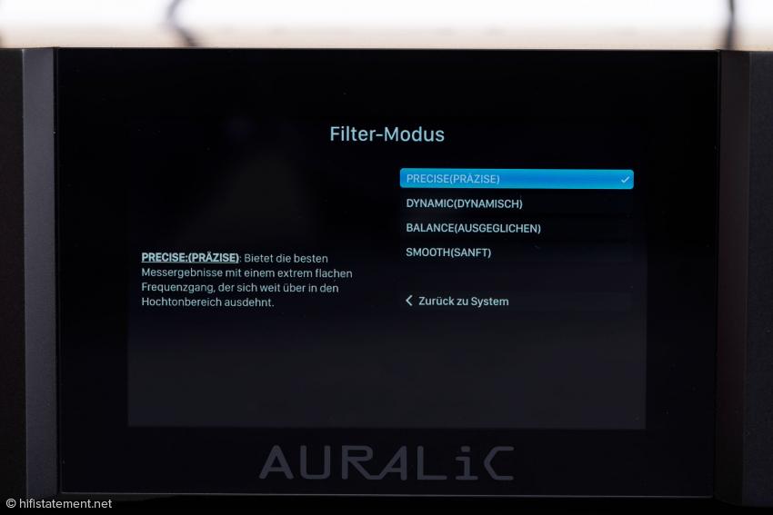 Der Vega lässt sich über sein Display bedienen. Komfortabler geht dies aber über die DS-Lightning-App oder den Browser von Computer, Smartphone oder Pad