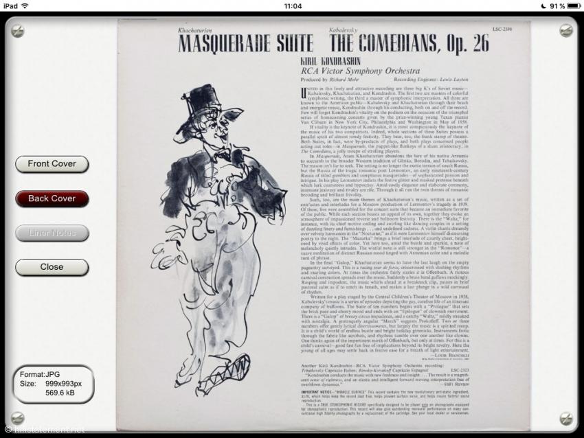 Back Cover Ansicht auf dem iPad