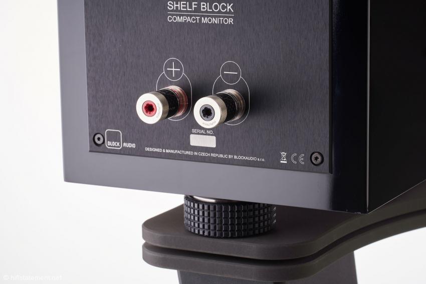 Die Lautsprecher-Terminals kommen aus der Top-Serie von Furutech und besitzen rhodinierte Kontakte