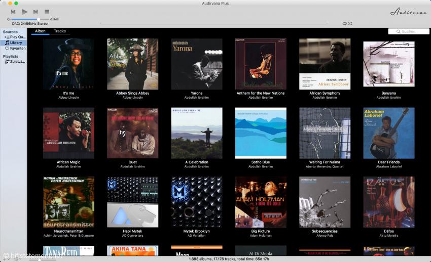 Hier noch einmal zu Erinnerung der Look von Audirvana für macOS