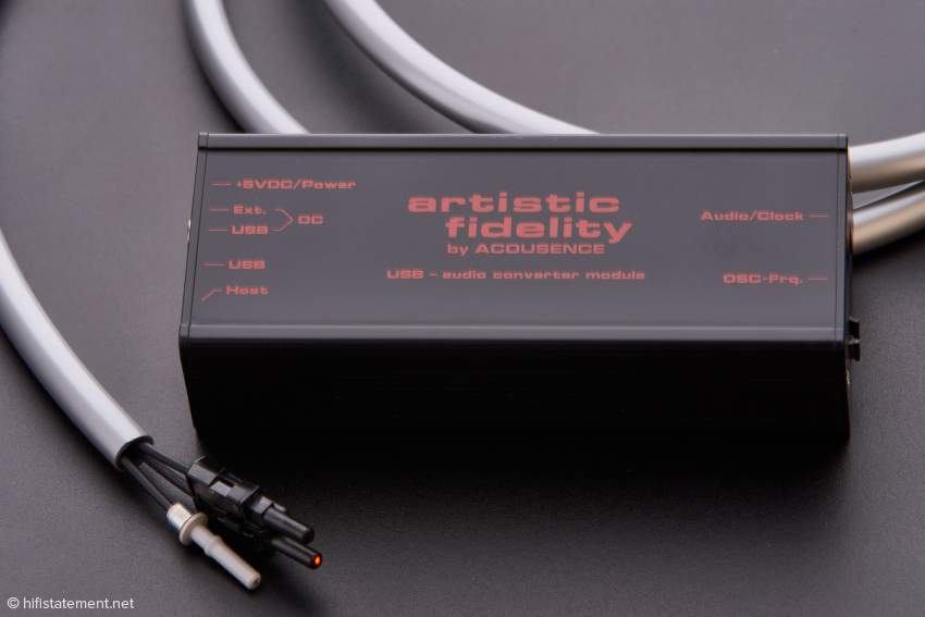 Das Modul, das ein ankommendes USB-Signal in ein optisches wandelt