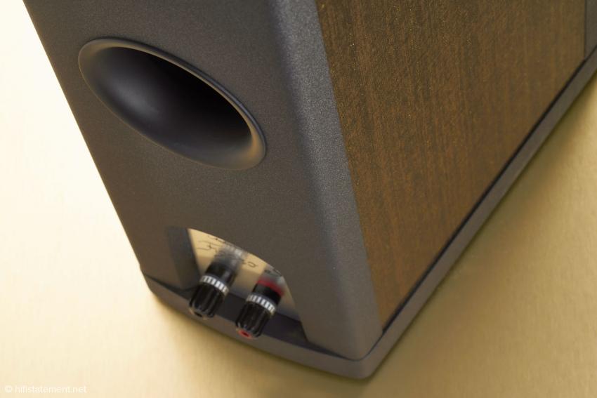 Der Bassreflexkanal ist ausreichend dimensioniert und erzeugt keinerlei Strömungsgeräusche