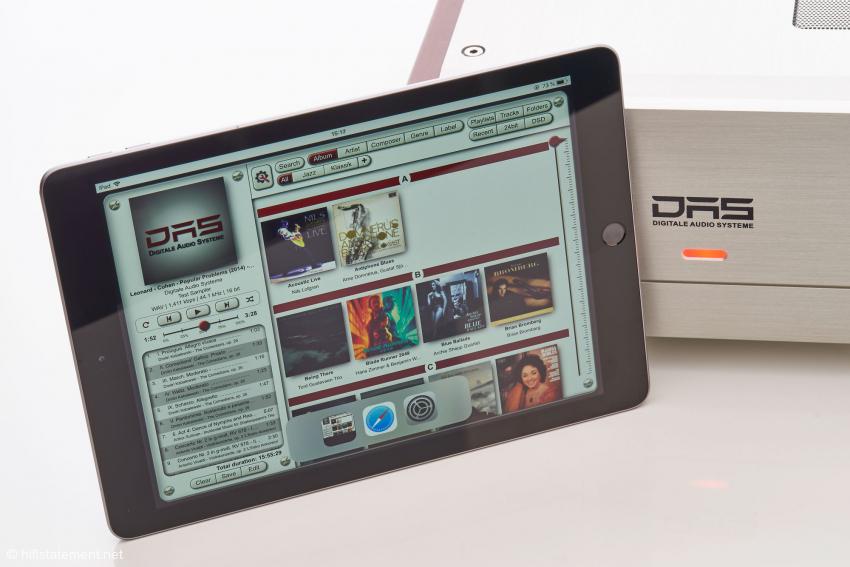 Das iPad gehört mit zum Lieferumfang, und die leicht zu bedienende App hat DAS natürlich selbst entwickelt. Das Model 4 dient als Access Point für das iPad: Der Aufbau eines Lan- oder WLan-Netzs oder die Integration der Gerät in ein bestehendes ist nicht notwendig