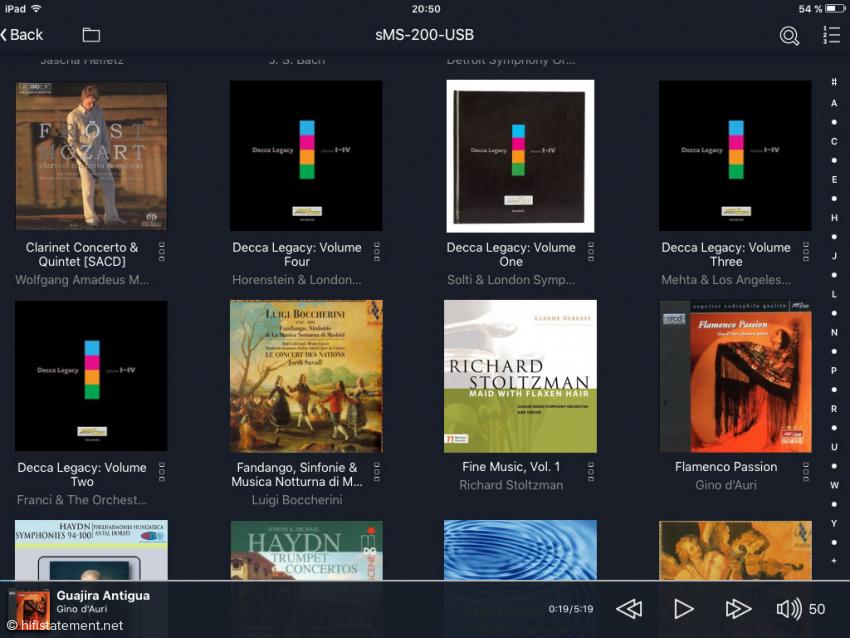 Linn Kazoo App als Control Point im Zusammenspiel mit dem sMS-200ultra Neo