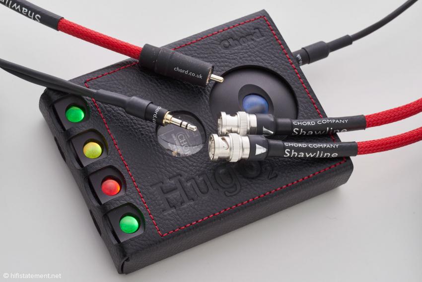 Die hier vorgestellten Shawlines wurden für die Verwendung mit dem Mini-Klinken-S/PDIF-Eingang des Hugo 2 konfektioniert
