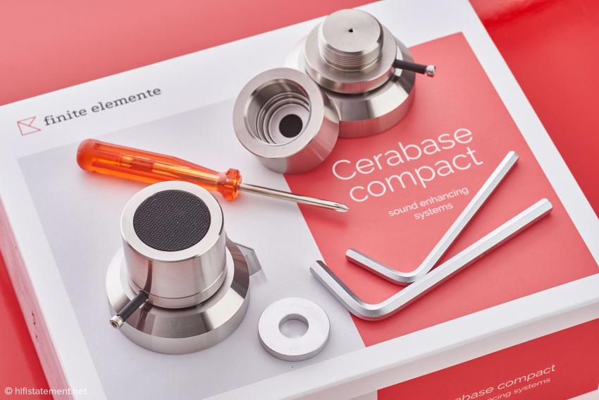 Die Cerabase compact ist nicht nur die massivste Variante im Testportfolio, sondern auch höhenverstellbar