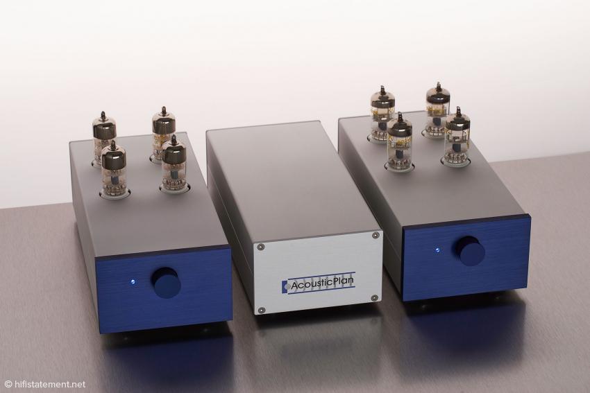 Drei auf einen Streich: AcousticPlan PhonoMaster, PowerMaster und PhonoMaster SE (von links nach rechts)