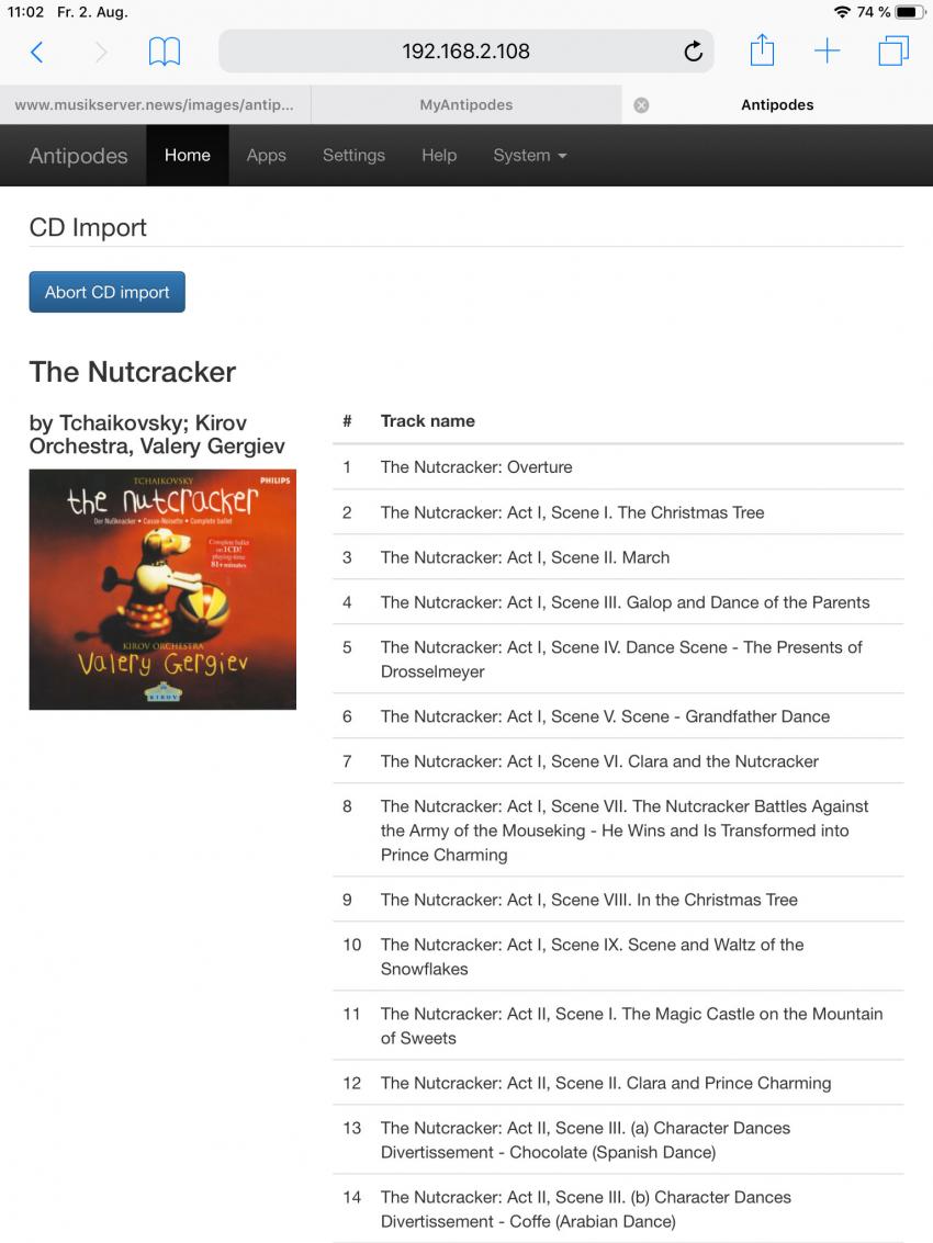 Die Informationen zum CD-Inhalt sind übersichtlich