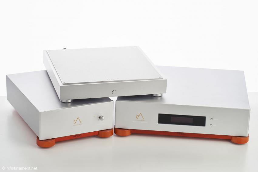 Der RMP-X2 mit seinem separatem Netzteil und dem Fidata