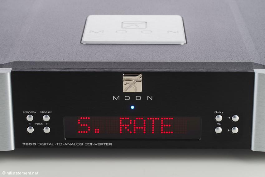 Während der Wiedergabe wird im Display die Sampling-Rate angezeigt