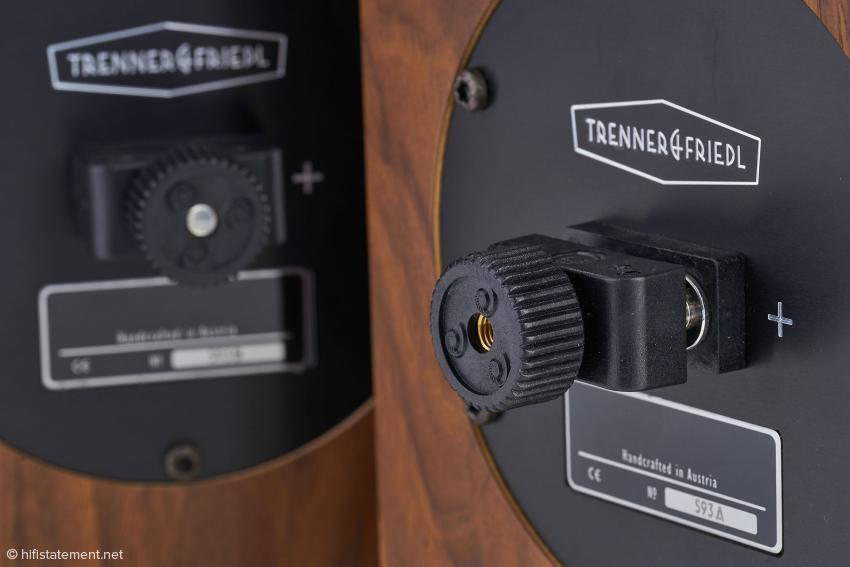 Die Cardas-Terminals sind optimiert für die Verwendung von Kabelschuhen