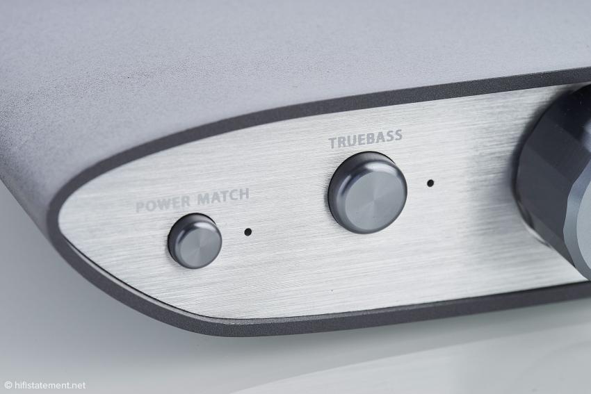 Trotz seines geringen Preises bietet der ZEN DAC PowerMatch und TrueBass