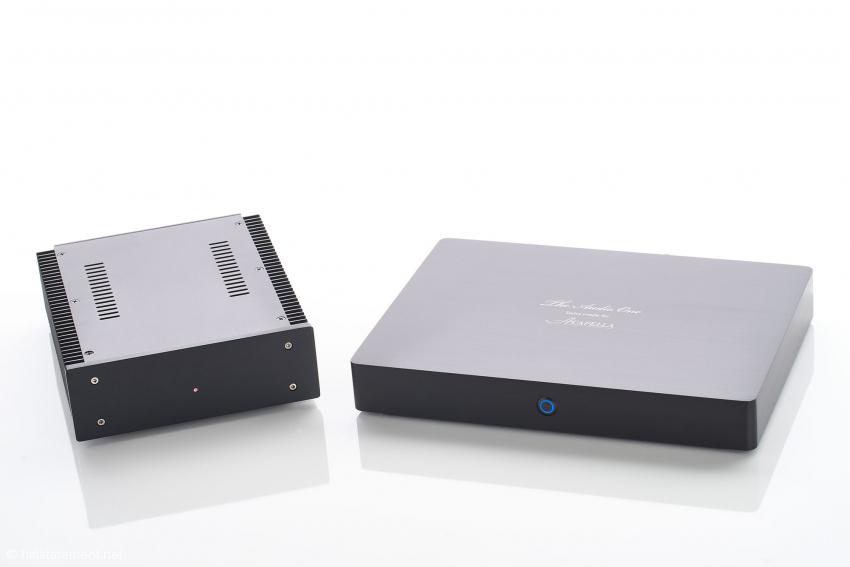 The Audio One wird mit einem Linearnetzteil mit einem satten Ringkern-Transformator geliefert