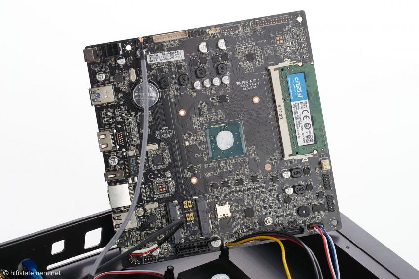 Ein Streamer ist vor allem ein Computer. Hier befindet sich der D/A-Wandler ebenfalls auf der Hauptplatine