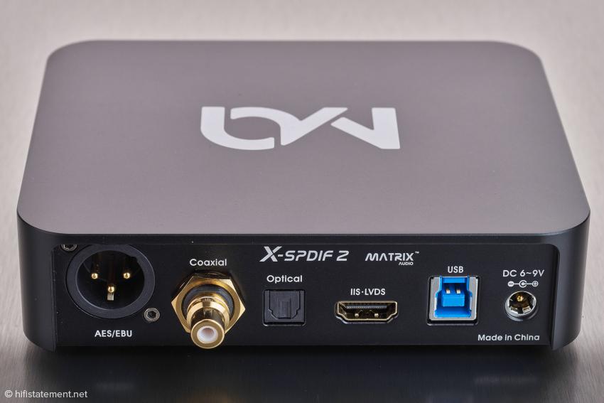 Noch bessere klangliche Ergebnisse als in diesem Test sind zu erwarten, wenn man einen Wandler mit I2S-Schnittstelle über ein HDMI-Kabel mit dem Matrix verbindet