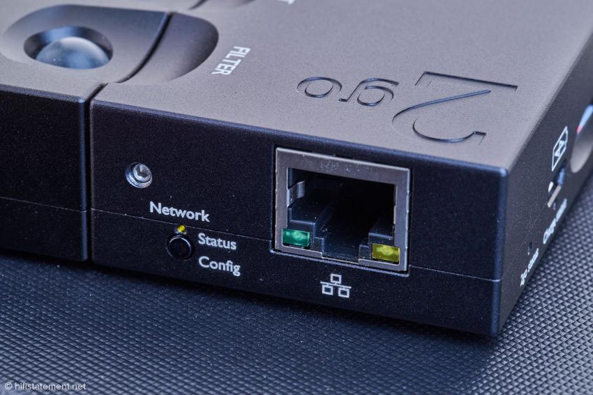 Im zierlichen 2go gibt es genug Platz für eine LAN-Buchse