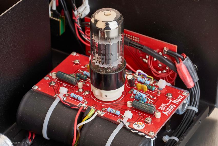 Die 6SN7 von Electro Harmonix in der Line-Stufe