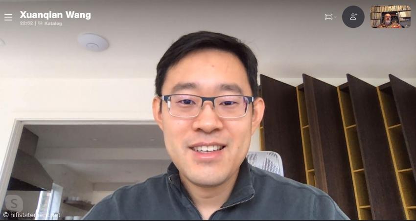 Auralic-Chef Xuanqian Wang gab per Skype Auskunft über die technischen Veränderungen beim Aries G2.1