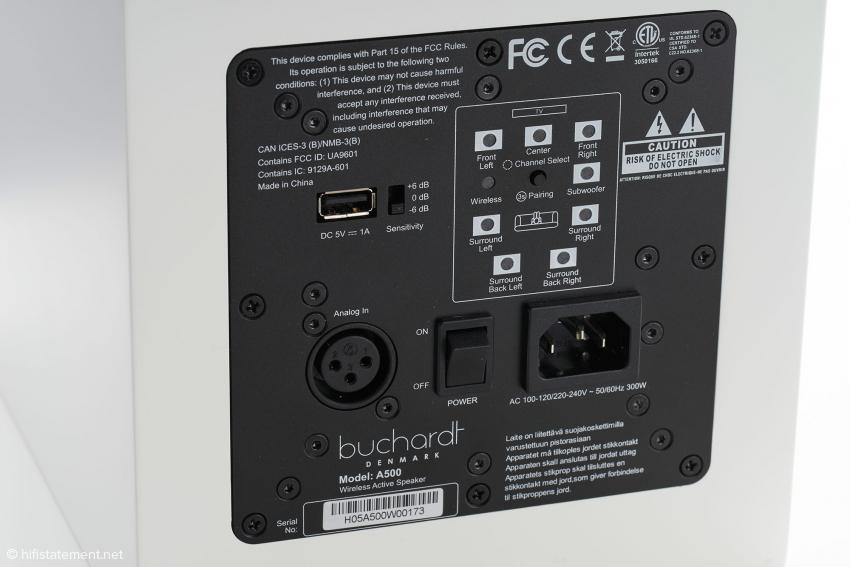 Via XLR kann der Lautsprecher analog mit einem Signal versorgt werden und spielt so auch ohne Hub