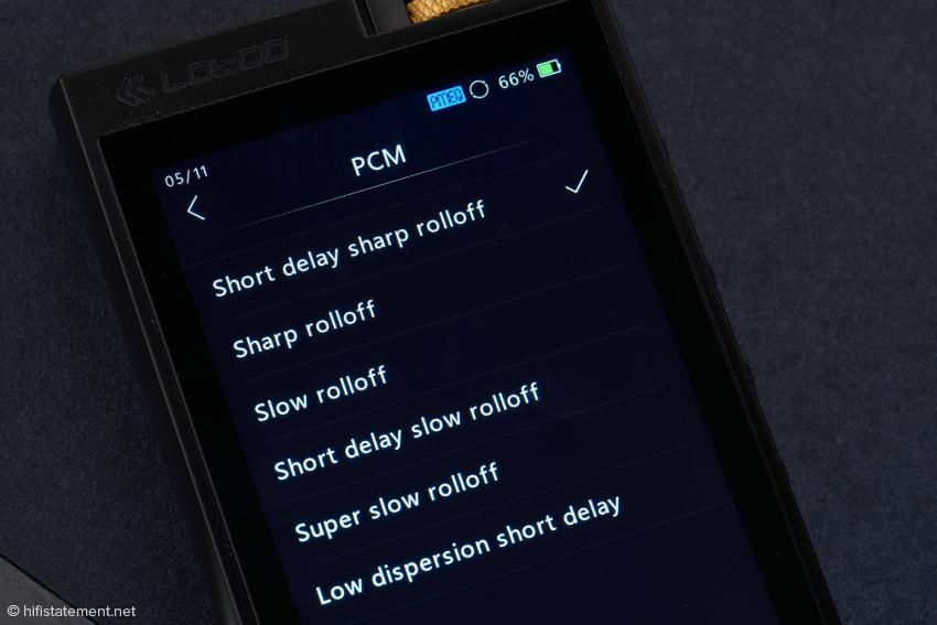 Der AKM 4493EQ bietet sechs verschiedene Digitalfilter, die einzeln angewählt werden können