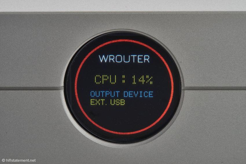 Wenn statt des S/PDIF-Ausgangs die USB-Schnittstelle aktiv sein soll, muss diese per Menu angewählt werden