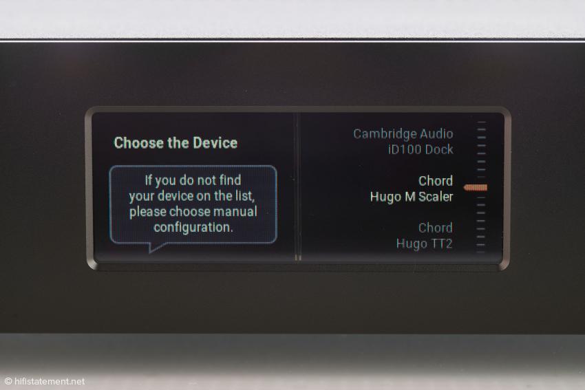 Die Liste der vorkonfigurierten Geräte kann per Firmwareupdate ständig erweitert werden