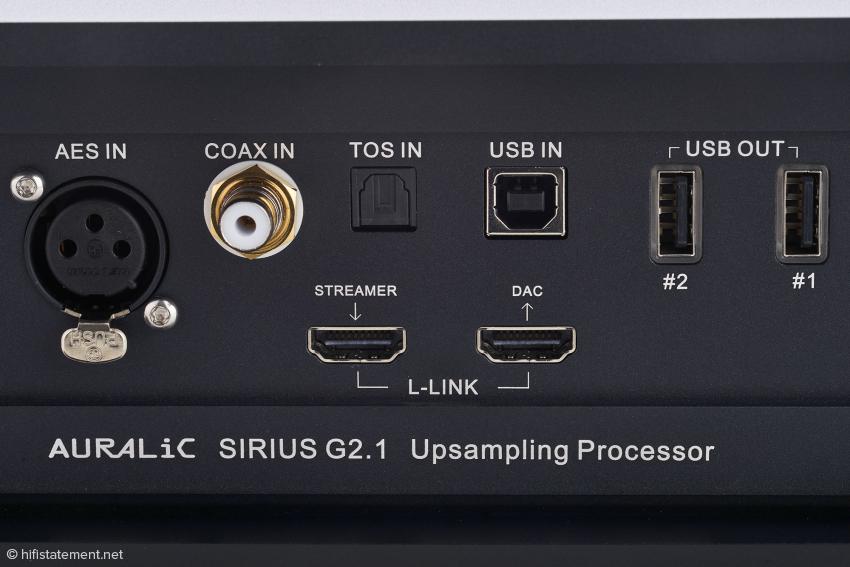 Erfahrungsgemäß klingt es am besten, wenn Auralic-Komponenten über die Lightning-Link-Buchsen kommunizieren