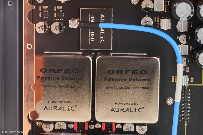 Die Module zur exakten analogen Lautstärkeregelung im Vega G2.1: Im Bericht über die Version G2 wurde die Qualität der Vorstufensektion ausführlich gewürdigt
