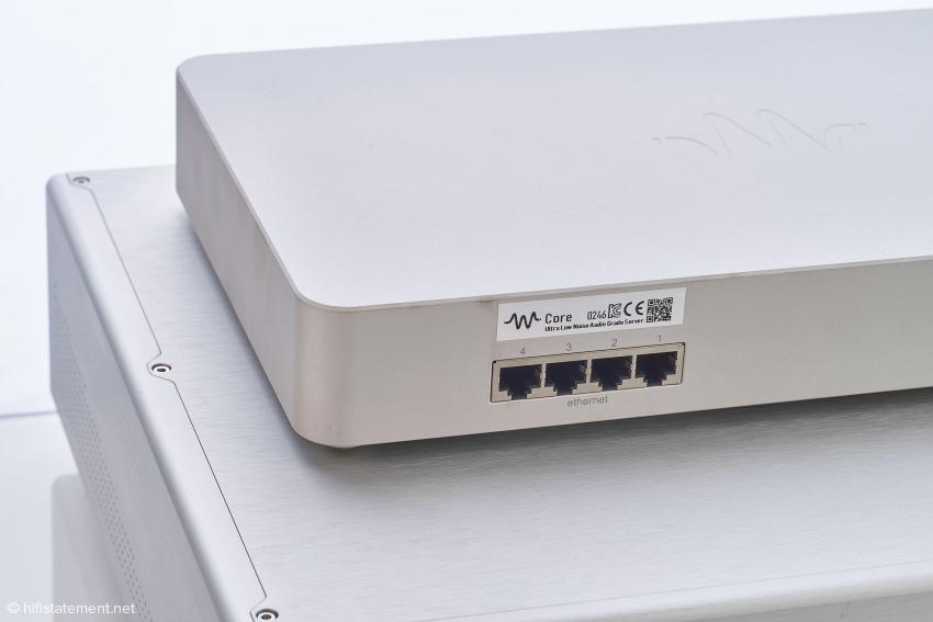 Die vier LAN-Ports des Wcore 2.0