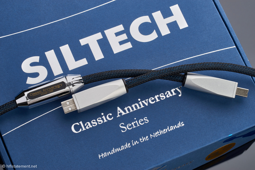 The Classic Anniversary silver cable is easy to handle and ensures ample listening pleasure