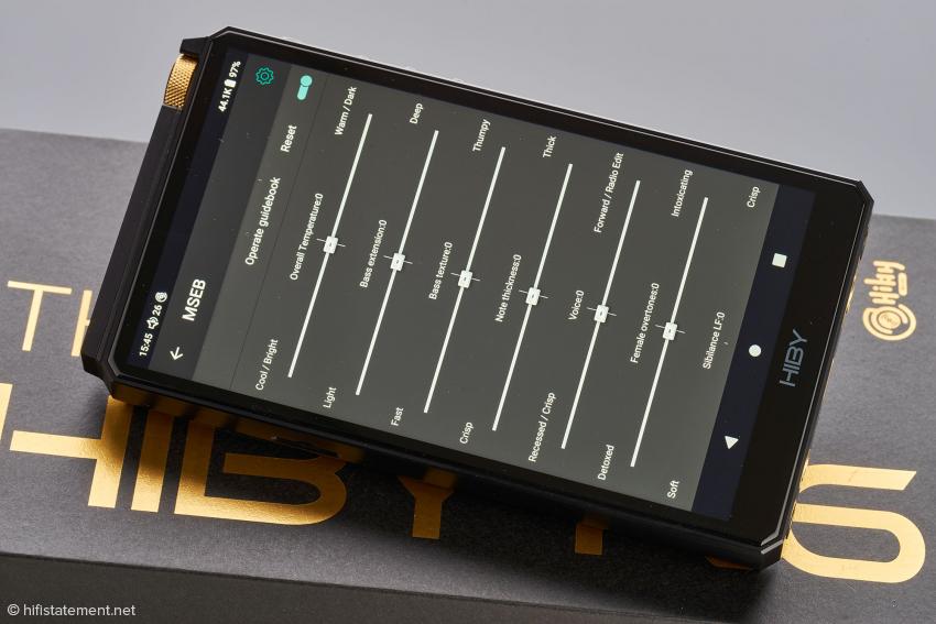 Der spezielle MSEB-Equalizer ist auf Wunsch systemweit aktiv und selbsterklärend