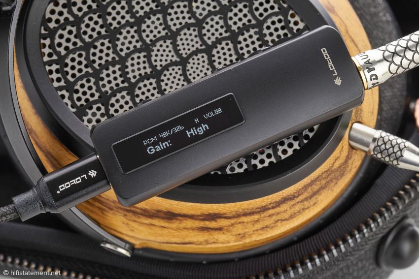 Der Verstärkungsfaktor des Lotoo lässt sich unabhängig von der Lautstärkeregelung in zwei Stufen einstellen