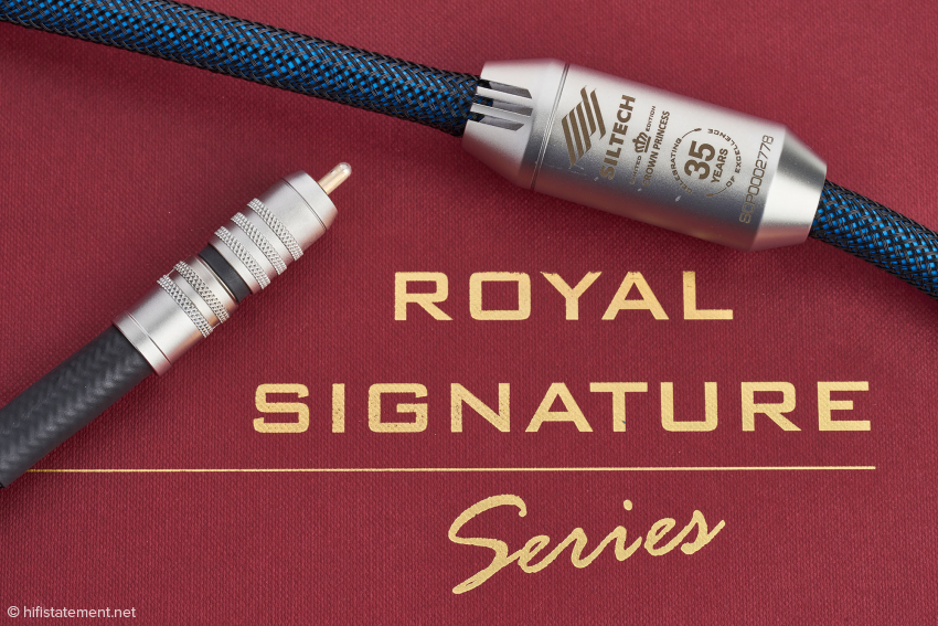 Das Crown Princess wird mit einem Barrel mechanisch beruhigt und besitzt die arretierbaren Siltech SST-Cinch-Stecker mit monokristalliner Kontaktfläche aus Silber